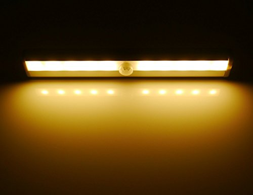 hotenda diy stick on anywhere portable 10 led wireless motion sensing closet cabinet led night lightstairs lightstep light bar with magnetic strip cabinet lighting 10 diy easy