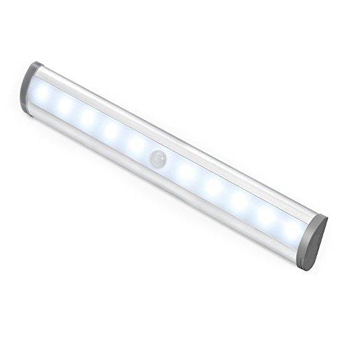 Le Led Closet Light Motion Sensing Under Cabinet Lighting 10 Led Wireless Stick On Anywhere