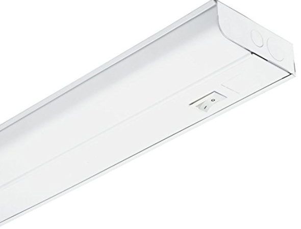 Lithonia Lighting UC8 25 120 SWR M6 1-Light White T8 Fluorescent Under Cabinet, 3-Feet