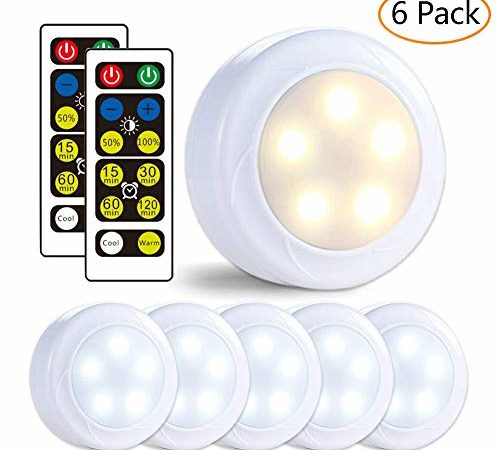 Lunsy Wireless Led Puck Lights Closet Lights 3aa Battery